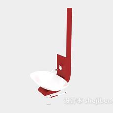 现代简约洗手盆3d模型下载