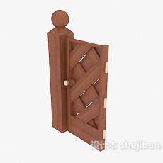 户外围栏门3d模型下载