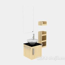 现代简约家庭浴柜3d模型下载