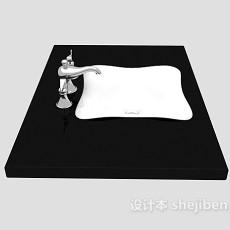 卫浴洗手池3d模型下载