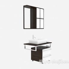 现代简约风格浴柜3d模型下载