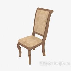 欧式精致高背椅3d模型下载