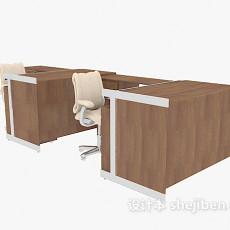 公司办公桌3d模型下载