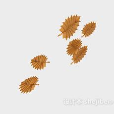 树叶墙饰3d模型下载