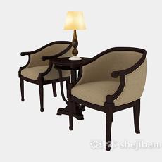 家居简约休闲椅3d模型下载