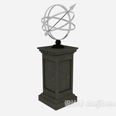 欧式柱子装饰3d模型下载