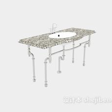 公厕洗手盆3d模型下载