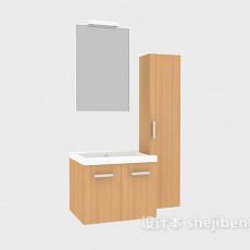 现代家居木质浴柜3d模型下载