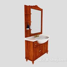 家具浴柜、浴镜组合3d模型下载