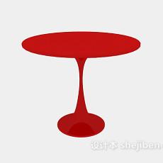 红色圆桌3d模型下载
