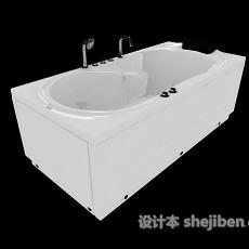 大型浴缸3d模型下载