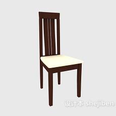 高背实木餐椅3d模型下载