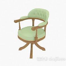 欧式精致扶手休闲椅3d模型下载