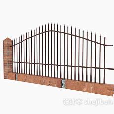 铁艺围栏3d模型下载