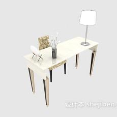 简欧风格书桌3d模型下载