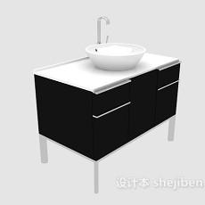 小型浴柜3d模型下载