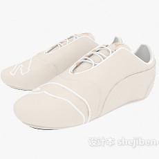 浅色休闲鞋3d模型下载