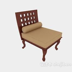 田园休闲沙发椅3d模型下载