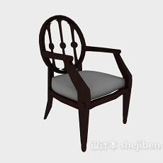 美式扶手家居椅3d模型下载