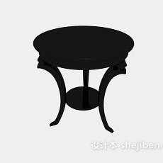 休闲小圆桌3d模型下载