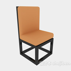 中式高背椅3d模型下载