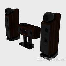 成套音箱组合3d模型下载