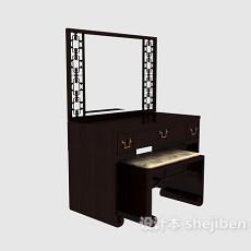 中式风格梳妆台3d模型下载