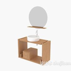 圆形卫浴镜3d模型下载