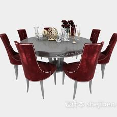 欧式 餐桌3d模型下载