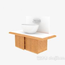 陶瓷白色洗手台3d模型下载