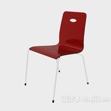 现代塑料餐椅3d模型下载