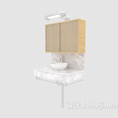 现代简约家居浴柜3d模型下载