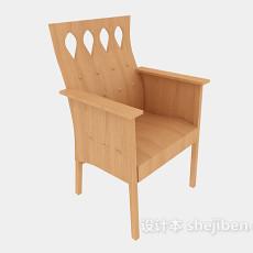 田园风格原木家居椅3d模型下载