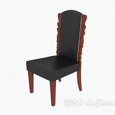 家居高背餐椅3d模型下载