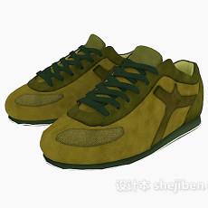 休闲鞋3d模型下载