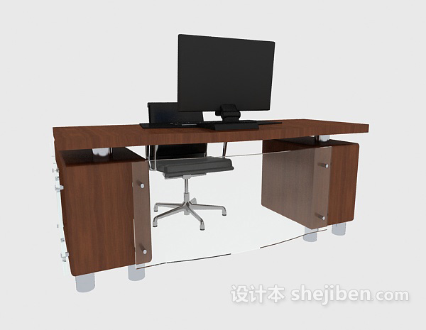 办公实木电脑桌