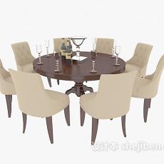简欧风格家居餐桌3d模型下载