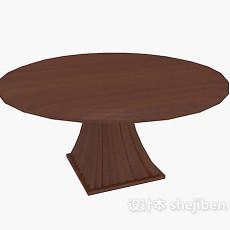 实木  圆桌3d模型下载