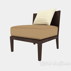 矮沙发休闲椅3d模型下载