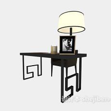 简欧风格书桌椅3d模型下载