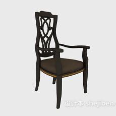 高背家居休闲椅3d模型下载