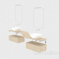 家居木质浴柜3d模型下载