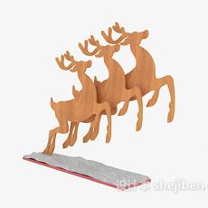 木质摆设装饰品3d模型下载
