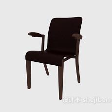 实木简约扶手椅3d模型下载