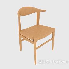 田园风格实木休闲椅3d模型下载