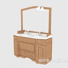 组合浴柜3d模型下载