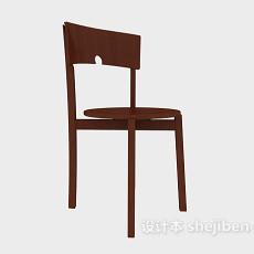 棕色田园实木休闲椅3d模型下载