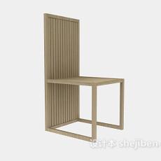 简约高背餐椅3d模型下载