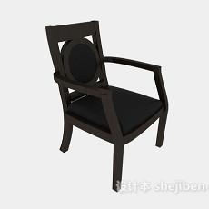 实木扶手餐椅3d模型下载