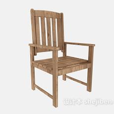 家居原木休闲椅3d模型下载